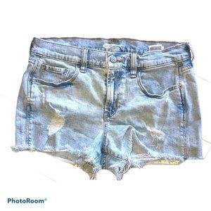 Old Navy Cut Off Super Short Shorts Distressed Raw